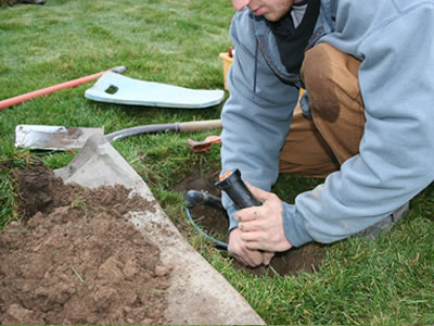 Installing an automatic sprinkler system in Rochester, NY