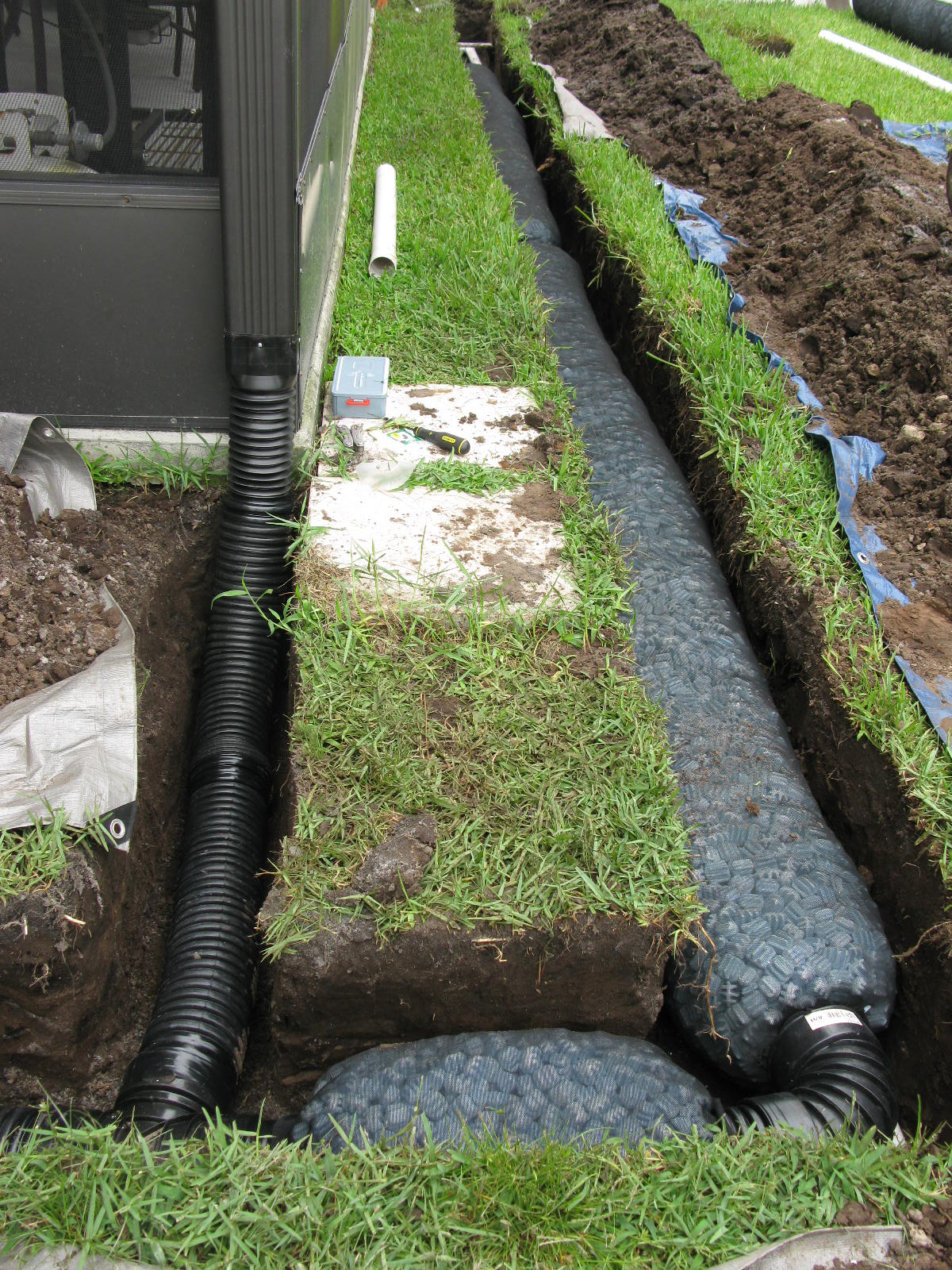 Irrigation tech rochester ny drainage for Basement curtain drain